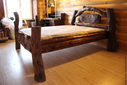 Мебель ручной работы. Ярмарка Мастеров - ручная работа. Купить Кровать в стиле рустик. Handmade. Рустик, мебель на заказ, хендмейд