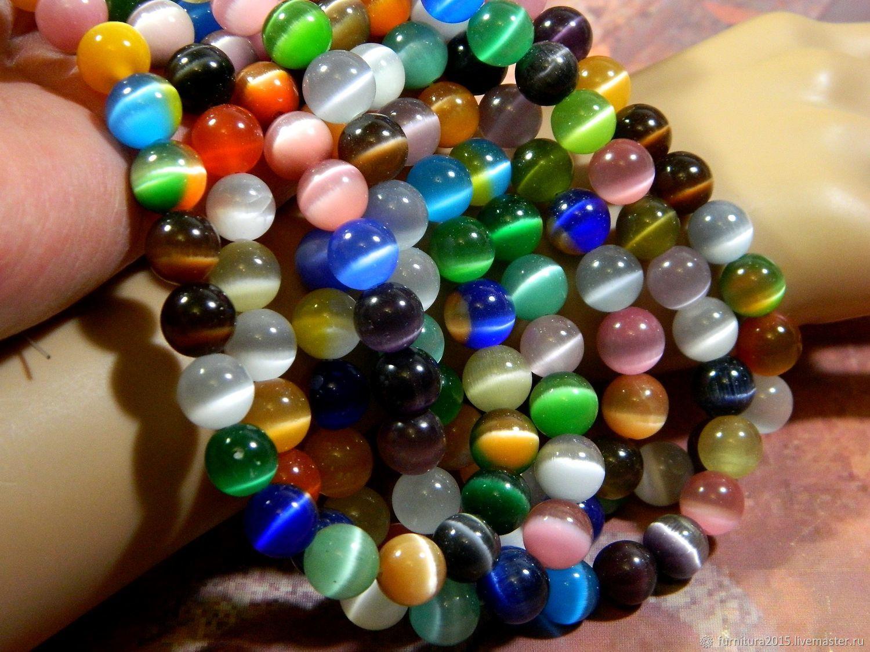 Cat's eye beads. thread, Beads1, Saratov,  Фото №1