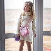 Платья ручной работы. Ярмарка Мастеров - ручная работа Платья: Платье свитер теплое для девочки. Handmade.