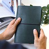 Канцелярские товары handmade. Livemaster - original item Leather notebook with interchangeable notebooks. Handmade.