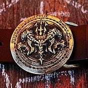 Аксессуары handmade. Livemaster - original item Straps: Leather belt with cast buckle