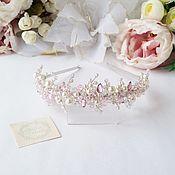 Розовый ободок диадема
