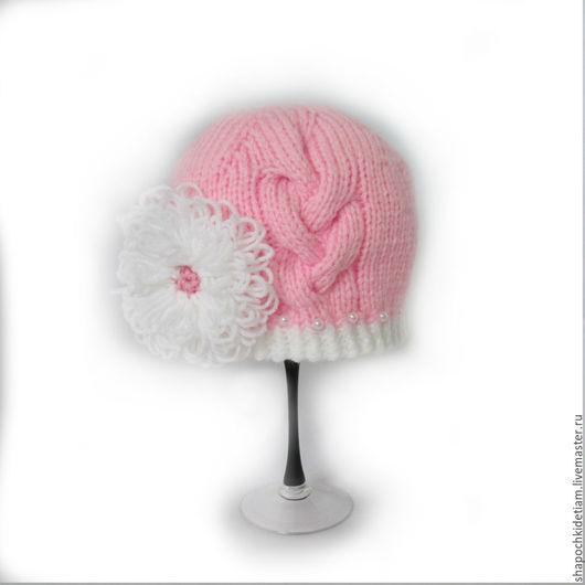 Шапки и шарфы ручной работы. Ярмарка Мастеров - ручная работа. Купить Вязаная шапочка для девочки  Хризантема. Handmade. Шапочка