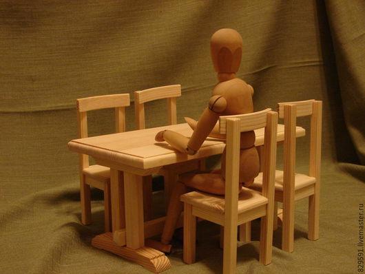Кукольный дом ручной работы. Ярмарка Мастеров - ручная работа. Купить обеденная зона 2. Handmade. Белый, кукольная мебель