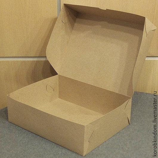 Упаковка ручной работы. Ярмарка Мастеров - ручная работа. Купить Коробка 25х17х10 крафт без окна без вкладыша. Handmade.