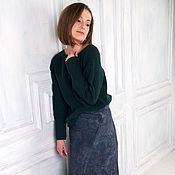 Одежда handmade. Livemaster - original item Felted Denim skirt. Handmade.