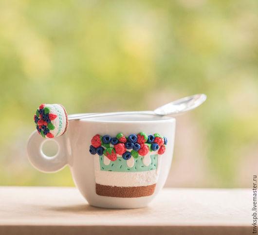 Мастер Калинина Кристина Ложечка с чашечкой `Ягодный тортик`
