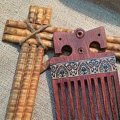 Сувениры и подарки handmade. Livemaster - original item Comb with inlaid mosaic of Slavic, Bubinga, inlay. Handmade.