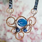 Украшения handmade. Livemaster - original item Blue agate pendant.. Handmade.