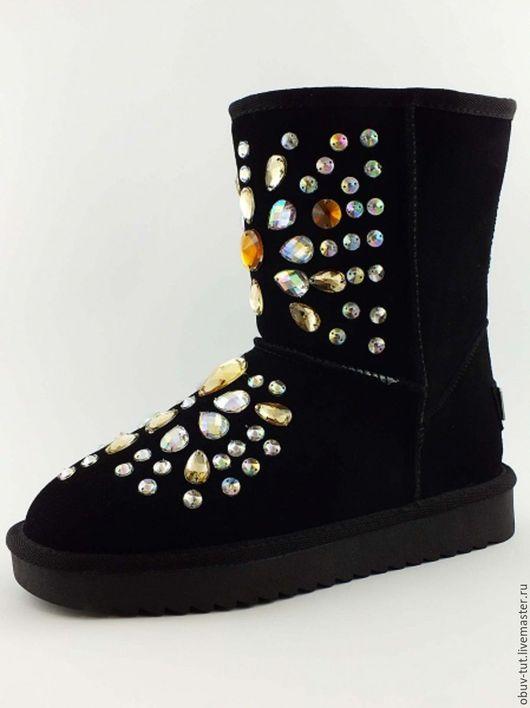 Обувь ручной работы. Ярмарка Мастеров - ручная работа. Купить Угги замшевые с камнями 35,36,37,38,39,40,41. Handmade.