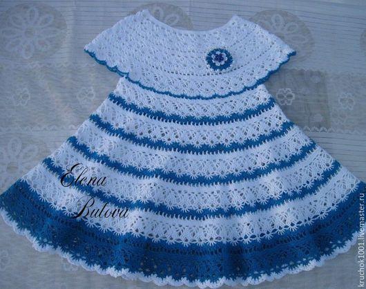 """Одежда для девочек, ручной работы. Ярмарка Мастеров - ручная работа. Купить Платье """"Лилия"""". Handmade. В полоску, платье для девочки"""
