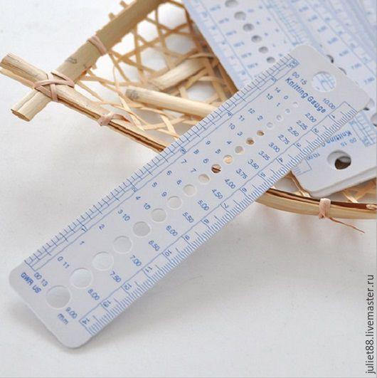 Вязание ручной работы. Ярмарка Мастеров - ручная работа. Купить Линейка для определения диаметра спиц. Handmade. Линейка, вязание, определитель