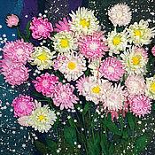 Картины и панно handmade. Livemaster - original item Panel with flowers