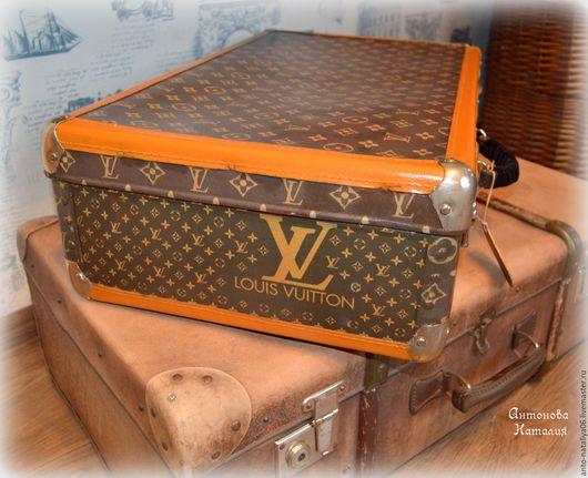 """Чемоданы ручной работы. Ярмарка Мастеров - ручная работа. Купить Чемодан """" Louis Vuitton"""". Handmade. Чемодан, коричневый"""