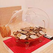 Сувениры и подарки handmade. Livemaster - original item Glass piggy Bank with a stopper. Handmade.