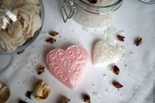 """Мыло ручной работы. Ярмарка Мастеров - ручная работа. Купить Мыло """"Нежное сердце"""". Handmade. Кремовый, нежное сердце"""