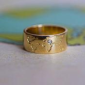 Украшения handmade. Livemaster - original item Gold ring with natural diamond