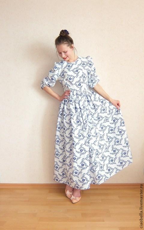 Платье в пол барышня