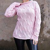 Одежда ручной работы. Ярмарка Мастеров - ручная работа Свитер женский Розовый жемчуг. Handmade.