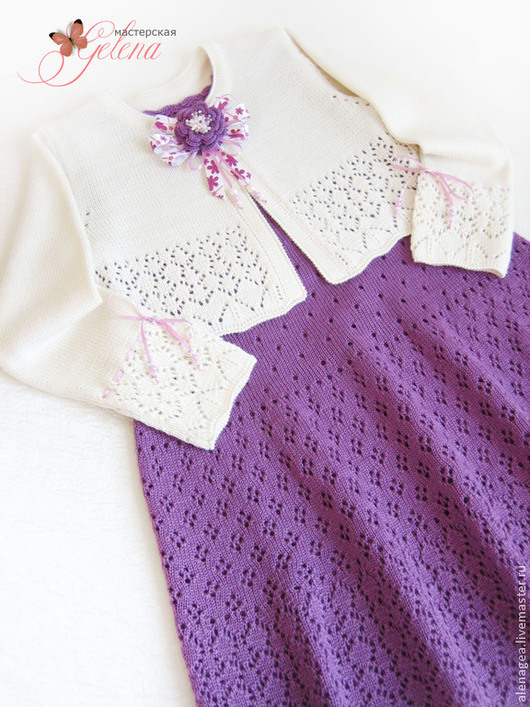 """Одежда для девочек, ручной работы. Ярмарка Мастеров - ручная работа. Купить Комплект для девочки """"Аромат ежевики"""" (сарафан и кофточка). Handmade."""