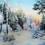 Картины и панно handmade. Livemaster - original item 12 Landscape oil painting Winter ina Vladimir Chernov. Handmade.
