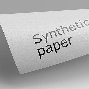 Материалы для творчества ручной работы. Ярмарка Мастеров - ручная работа Синтетическая бумага 250 мкр 25х35 см. Handmade.