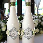 Свадебный салон ручной работы. Ярмарка Мастеров - ручная работа Свадебное оформление бутылок. Handmade.
