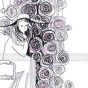 "Картины и панно handmade. Livemaster - original item Interior graphics ""How many roses...""the author`s style. Handmade."