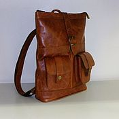 Сумки и аксессуары handmade. Livemaster - original item Backpack leather city 30. Handmade.