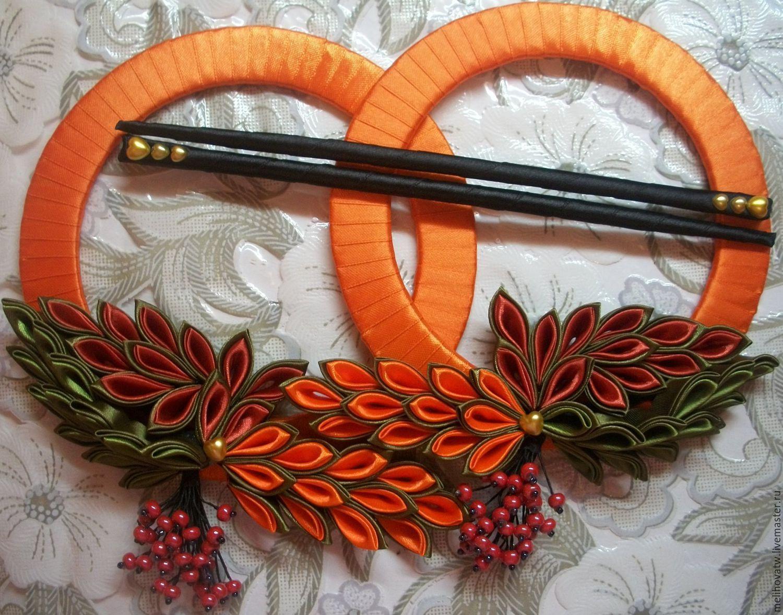 """Текстиль, ковры ручной работы. Ярмарка Мастеров - ручная работа. Купить Зажимы для штор """"Рябина"""". Handmade. Осень, оранжевый"""