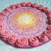 Для дома и интерьера ручной работы. Ярмарка Мастеров - ручная работа Коврик Розовое утро. Handmade.