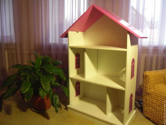 Кукольный дом ручной работы. Ярмарка Мастеров - ручная работа. Купить кукольный  дом розовый  № 11. Handmade. Фуксия