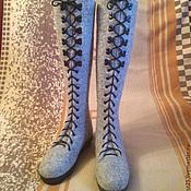 """Обувь ручной работы. Ярмарка Мастеров - ручная работа Валяные сапоги-ботфорты """"Таллинн"""". Handmade."""