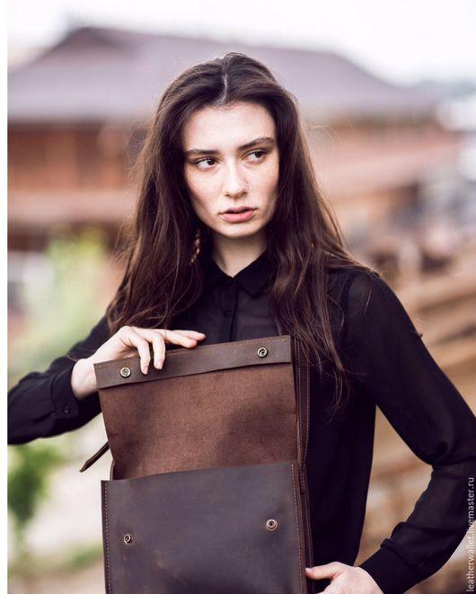 Женские сумки ручной работы. Ярмарка Мастеров - ручная работа. Купить Кожаная сумочка. Handmade. Коричневый, сумка из кожи