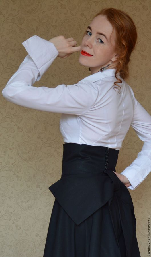 """Юбки ручной работы. Ярмарка Мастеров - ручная работа. Купить Длинная юбка с бантом  """"Графиня"""". Handmade. Черный, элегантность"""
