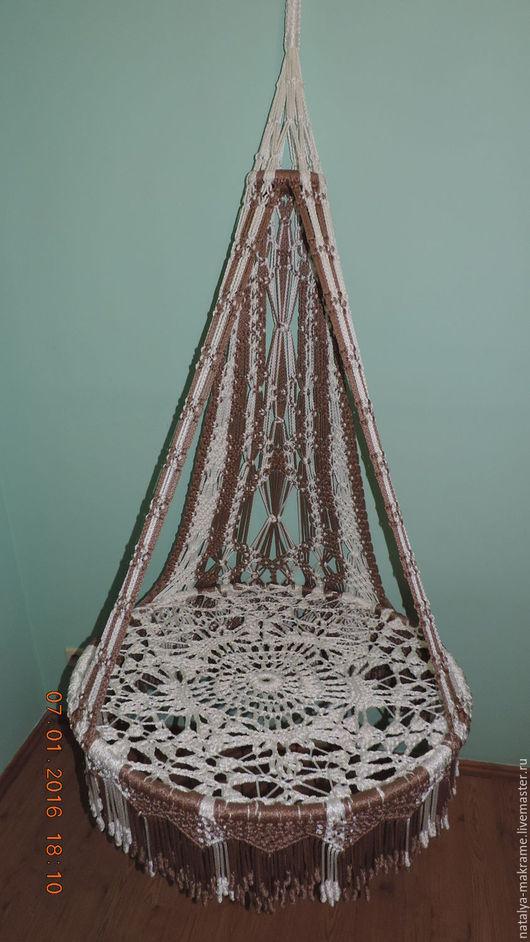 Мебель ручной работы. Ярмарка Мастеров - ручная работа. Купить плетеное кресло-гамак из полиамидной нити. Handmade. Кресло-гамак