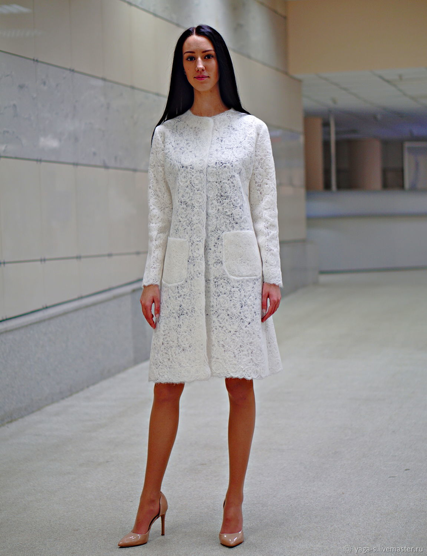 White wool cardigan by YAGA, Cardigans, Moscow,  Фото №1
