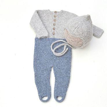 Товары для малышей ручной работы. Ярмарка Мастеров - ручная работа Слип + шапочка Эльфа  для фотосессии новорожденных мальчиков. Handmade.