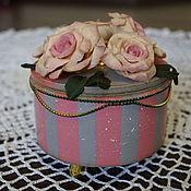 """Для дома и интерьера ручной работы. Ярмарка Мастеров - ручная работа Шкатулка """"Чайные розы"""". Handmade."""
