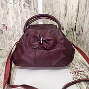 Сумки и аксессуары handmade. Livemaster - original item Genuine leather bag with a bow. Handmade.