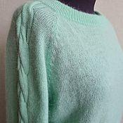 Одежда handmade. Livemaster - original item Mint-colored blouse. Handmade.