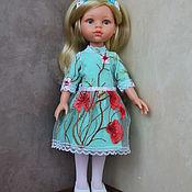 Куклы и игрушки handmade. Livemaster - original item Holiday dress and headband for Paola Reina doll (mint). Handmade.
