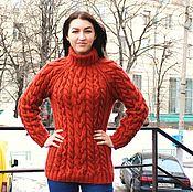 """Одежда ручной работы. Ярмарка Мастеров - ручная работа свитер """"Уют""""рыжий. Handmade."""
