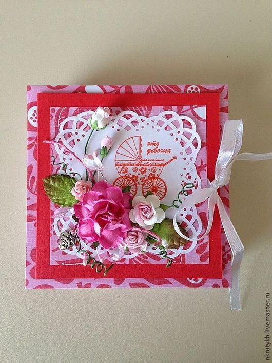 """Подарки для новорожденных, ручной работы. Ярмарка Мастеров - ручная работа. Купить Коробочка для подарка """"Крестины"""" (8). Handmade. Ярко-красный"""