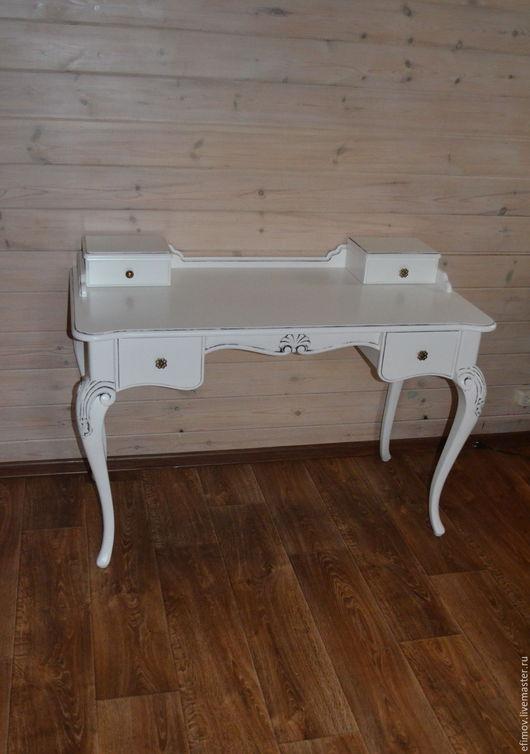 Мебель ручной работы. Ярмарка Мастеров - ручная работа. Купить Стол с патиной. Handmade. Белый, стол с патиной