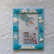Сувениры и подарки ручной работы. Ярмарка Мастеров - ручная работа Фоторамка детская  Малыш-полимерная глина. Handmade.