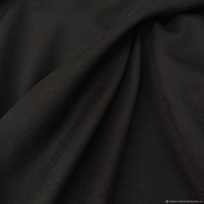 Джерси черное 01226 – купить на Ярмарке Мастеров – L3H5URU   Ткани, Королев