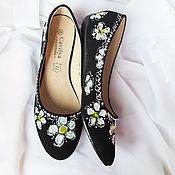 Обувь ручной работы handmade. Livemaster - original item Ballet flats women`s painted