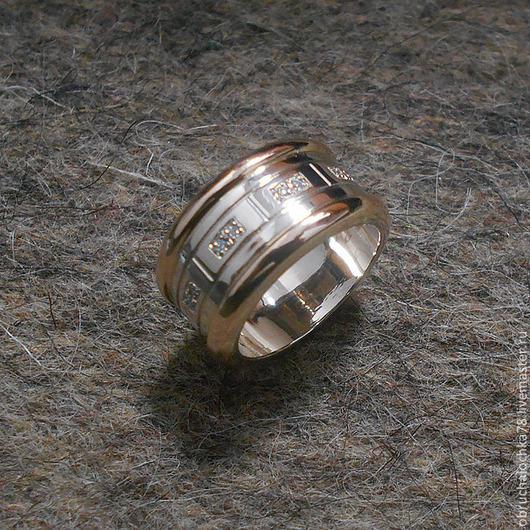 """Кольца ручной работы. Ярмарка Мастеров - ручная работа. Купить Кольцо """"Престиж"""". Handmade. Белый, золото 585 пробы"""