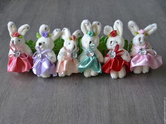 Куклы и игрушки ручной работы. Ярмарка Мастеров - ручная работа. Купить Зайка в платье. Handmade. Белый, зайка, зайчик